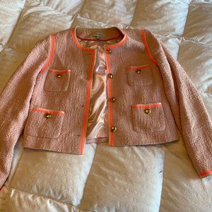 J Crew Pink Tweed Jacket